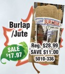 Burlap/Jute at Youngs Home Hardware