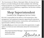 Shop Superintendent Wanted