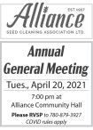 Alliance Seed Cleaning Association Ltd. Annual General Meeting