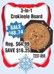 3-in-1 Crokinole Board