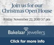 Join Bakelaar Jewellers for their Christmas Open House