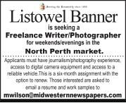 Listowel Banner is seeking a Freelance Writer/Photographer