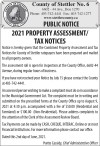 2021 PROPERTY ASSESSMENT/ TAX NOTICES