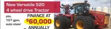 New Versatile 520 4 wheel drive tractor