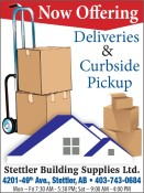Stettler Building Supplies Now offering deliveries & Curbside pickup