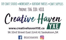 Creative Haven DIY CRAFT STUDIO, WORKSHOPS and more