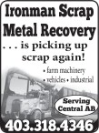 Ironman Scrap Metal Recovery... is picking up scrap again!