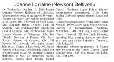 Joanne Lorraine (Newson) Belliveau
